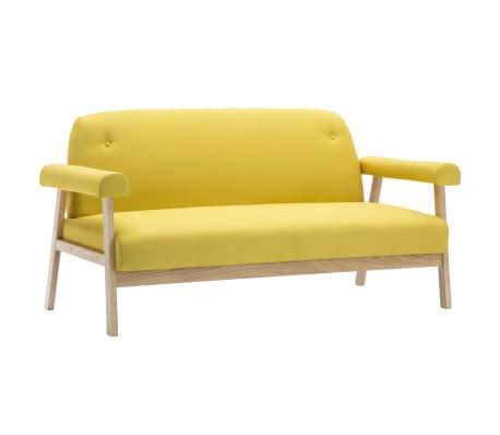vidaXL Sedací souprava pro 5 osob 2 kusy textilní čalounění žluté[3/8]