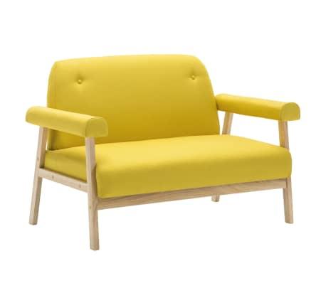 vidaXL Sedací souprava pro 5 osob 2 kusy textilní čalounění žluté[4/8]