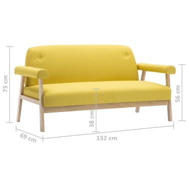 vidaXL Sedací souprava pro 5 osob 2 kusy textilní čalounění žluté[7/8]