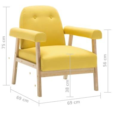 vidaXL Sedací souprava pro 6 osob 3 kusy textilní čalounění žluté[8/8]