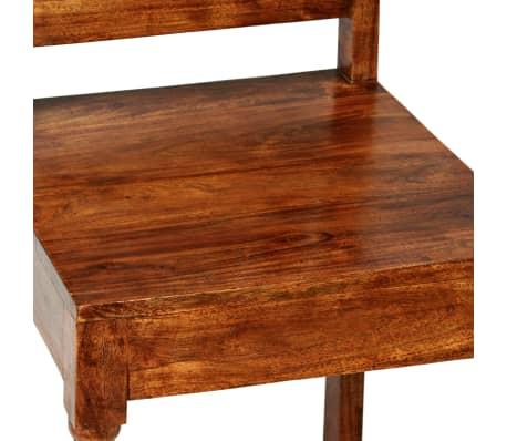 vidaXL Juego mesa comedor 9 piezas madera de acacia acabado sheesham ...