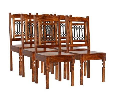 vidaXL Juego de comedor 7 piezas madera de acacia acabado sheesham[2/18]