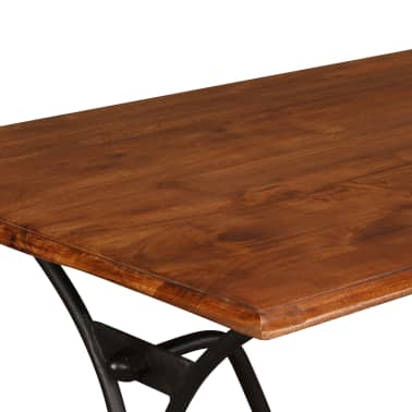 vidaXL Juego de comedor 7 piezas madera de acacia acabado sheesham[13/18]