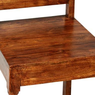 vidaXL Juego de comedor 7 piezas madera de acacia acabado sheesham[7/18]