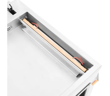 vidaXL Professionell vakuumförpackare 750 W rostfritt stål[5/8]