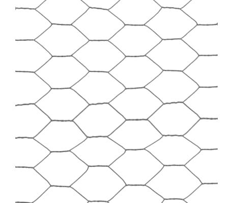 Grillage Acier avec revêtement en PVC 25 x 1 m Hexagonal Gris H1U5