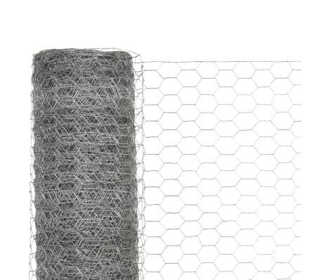 vidaXL Hönsnät galvaniserat stål 25x1,2 m silver[3/4]