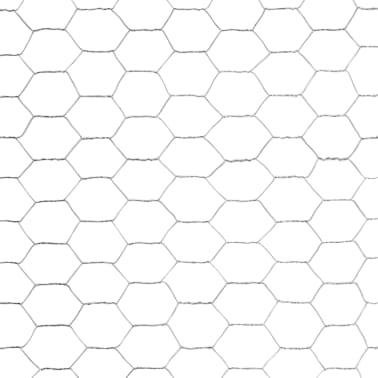 vidaXL Hönsnät galvaniserat stål 25x1,2 m silver[4/4]