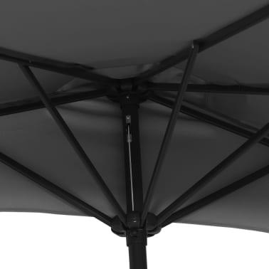 vidaXL Balkon-Sonnenschirm mit Alu-Mast Anthrazit 270×135 cm Halbrund[6/8]