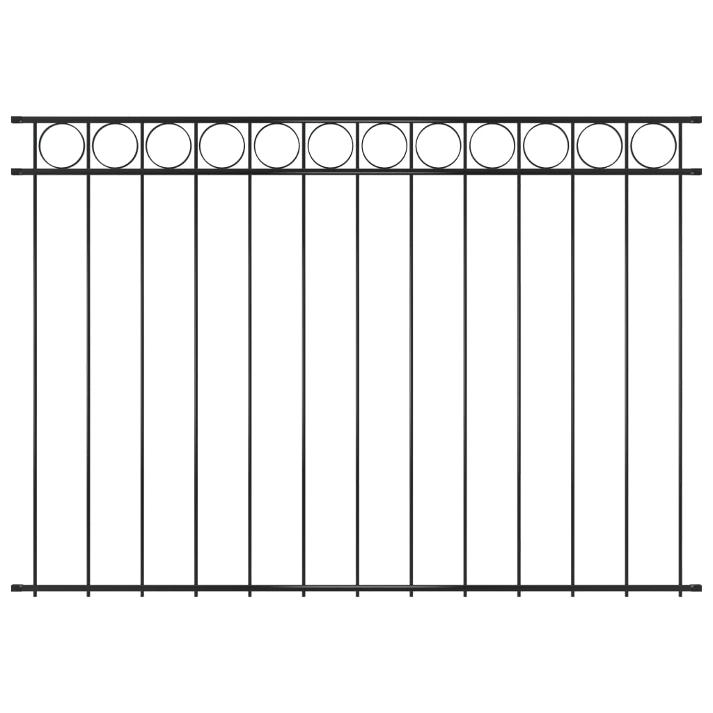 vidaXL Panou de gard, negru, 1,96 x 1,5 m, oțel vidaxl.ro