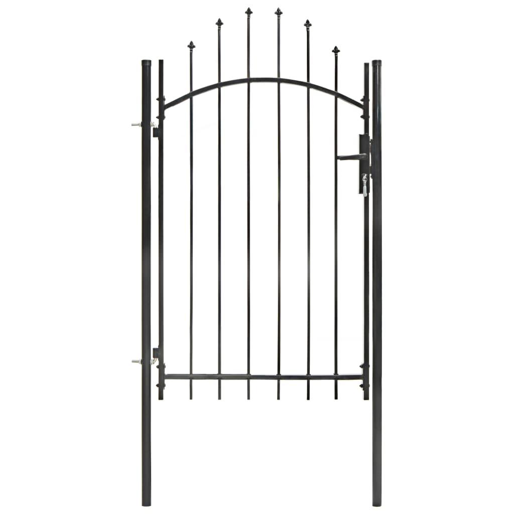 vidaXL Poartă de grădină, negru, 1 x 2,25 m, oțel poza vidaxl.ro