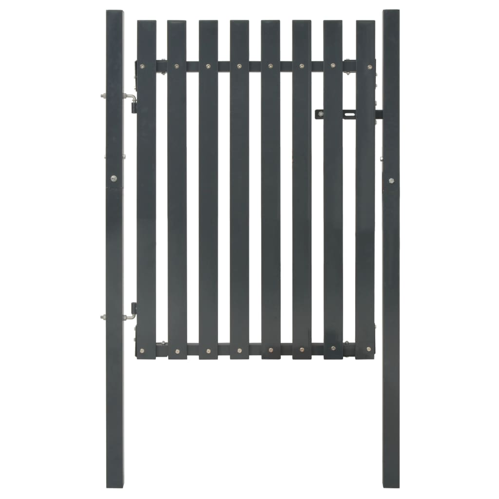 vidaXL Poartă pentru gard din oțel, antracit, 103 x 125 cm imagine vidaxl.ro