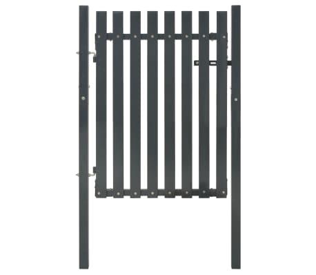 vidaXL Portail de clôture Acier 103x125 cm Anthracite[1/4]