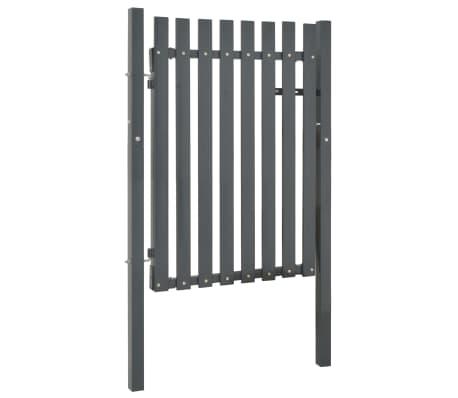 vidaXL Portail de clôture Acier 103x125 cm Anthracite[2/4]