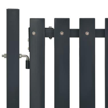 vidaXL Portail de clôture Acier 103x125 cm Anthracite[3/4]