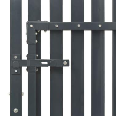 vidaXL Portail de clôture Acier 103x125 cm Anthracite[4/4]