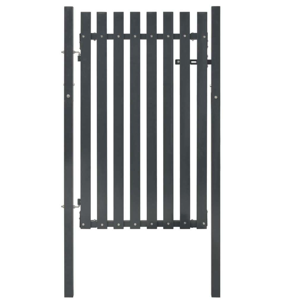 vidaXL Poartă pentru gard din oțel, antracit, 103 x 150 cm imagine vidaxl.ro