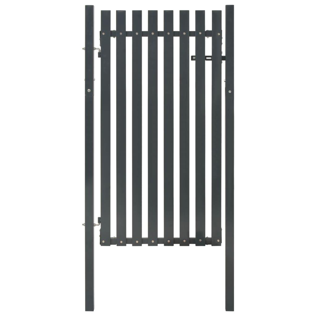 vidaXL Poartă pentru gard din oțel, antracit, 103 x 170 cm poza 2021 vidaXL