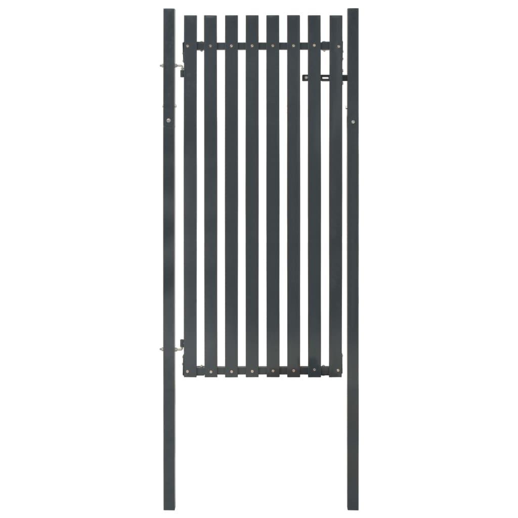 vidaXL Fence Gate Steel 103x195 cm Anthracite For Sale in Uk | Preloved