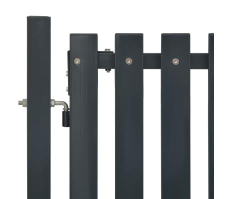 vidaXL Poort 103x195 cm staal antraciet[3/4]