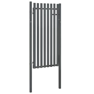 vidaXL Poort 103x195 cm staal antraciet[2/4]