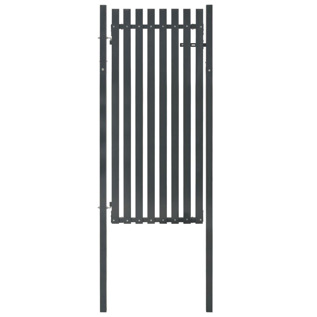vidaXL Poartă pentru gard din oțel, antracit, 103 x 225 cm poza vidaxl.ro
