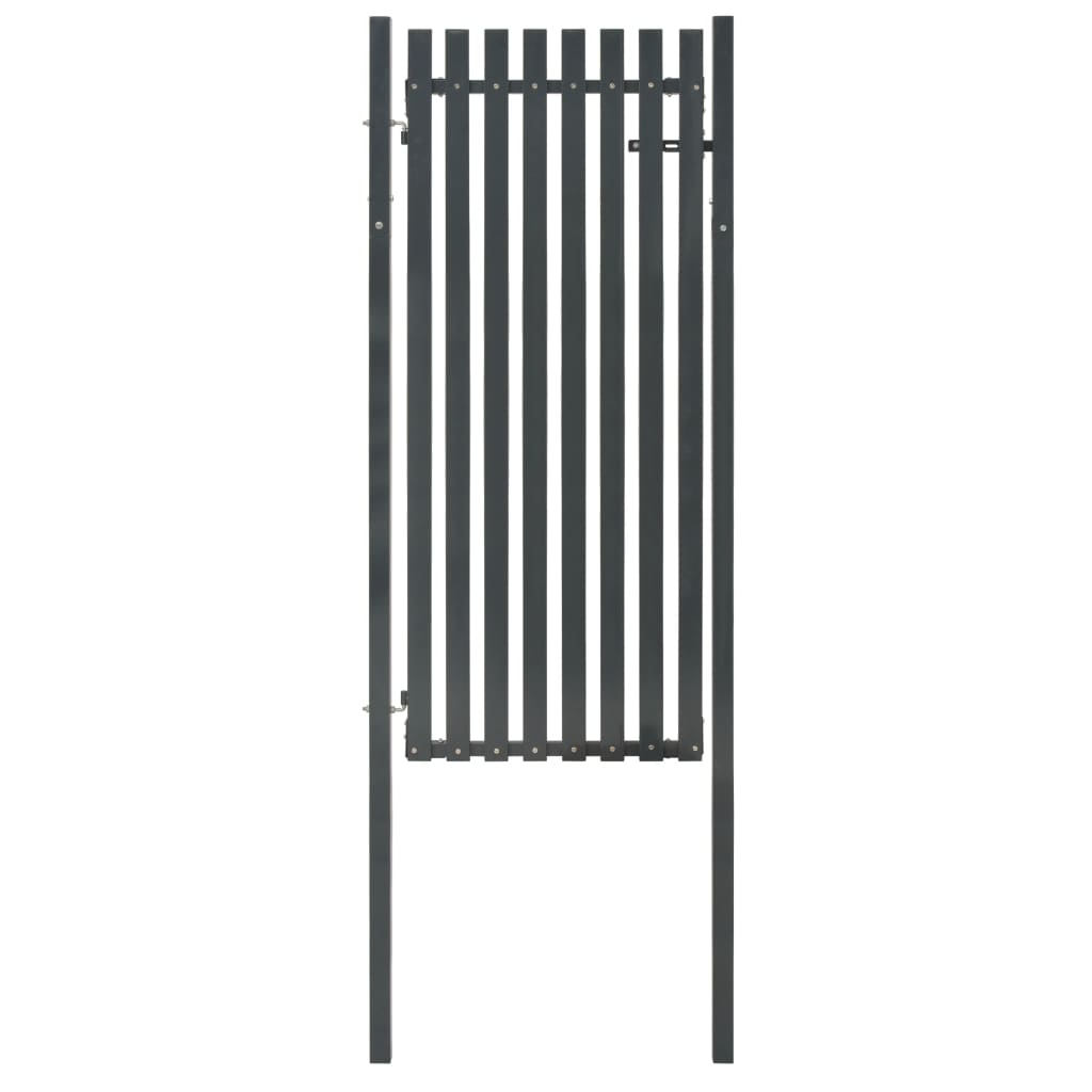 vidaXL Poartă pentru gard din oțel, antracit, 103 x 245 cm poza 2021 vidaXL