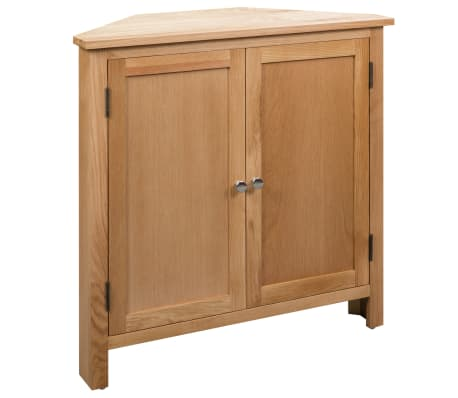 vidaXL Dulap de colț, 80 x 33,5 x 78 cm, lemn masiv de stejar
