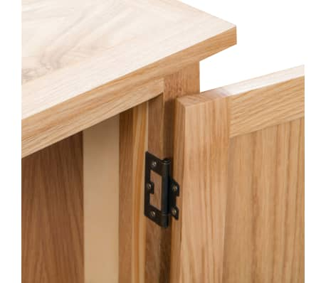 vidaXL Dulap de colț, 80 x 33,5 x 78 cm, lemn masiv de stejar[6/8]