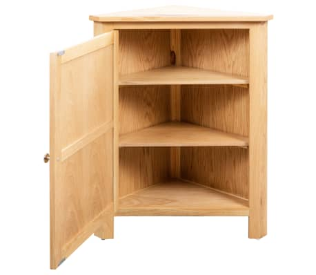 vidaXL Dulap de colț, 59 x 36 x 80 cm, lemn masiv de stejar[4/8]