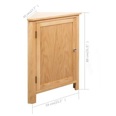 vidaXL Dulap de colț, 59 x 36 x 80 cm, lemn masiv de stejar[8/8]