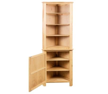 vidaXL Dulap de colț, 59 x 36 x 180 cm, lemn masiv de stejar[3/7]