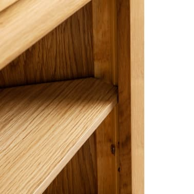 vidaXL Dulap de colț, 59 x 36 x 180 cm, lemn masiv de stejar[4/7]
