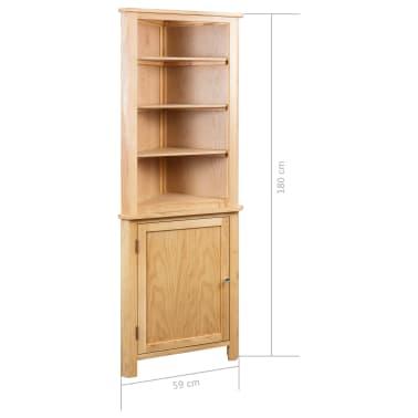 vidaXL Dulap de colț, 59 x 36 x 180 cm, lemn masiv de stejar[7/7]