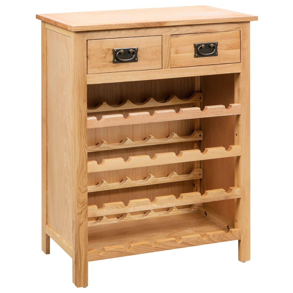 vidaXL Skříňka na víno 72 x 32 x 90 cm masivní dubové dřevo
