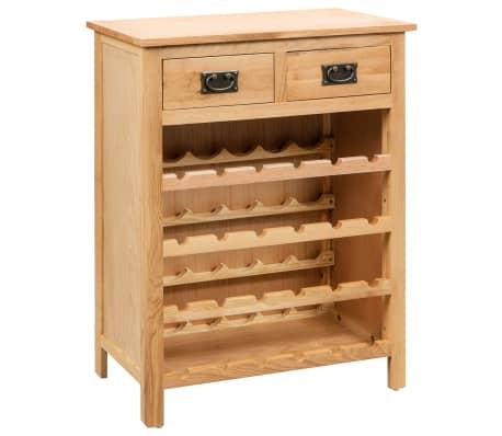 vidaXL tömör tölgyfa bortartó szekrény 72 x 32 x 90 cm