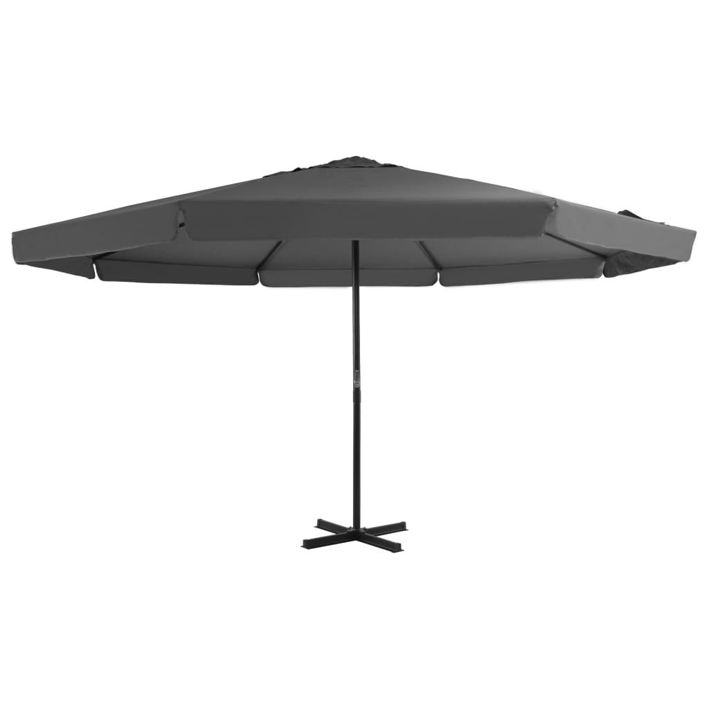 vidaXL Umbrelă de soare cu stâlp aluminiu, antracit, 500 cm vidaxl.ro