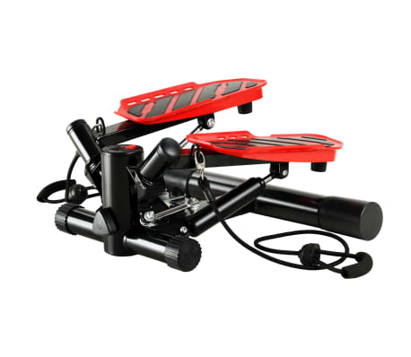 vidaXL Swing Stepper with Resistance Cords Black and Red[1/5]