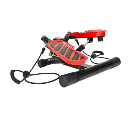 vidaXL Swing Stepper with Resistance Cords Black and Red[2/5]
