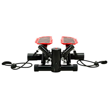 vidaXL Swing Stepper with Resistance Cords Black and Red[3/5]