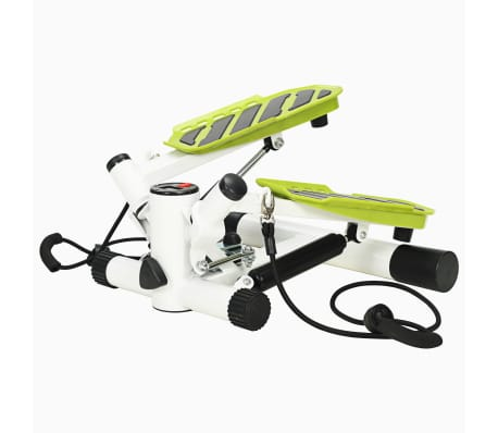 vidaXL Swing Stepper with Resistance Cords White and Green[1/5]
