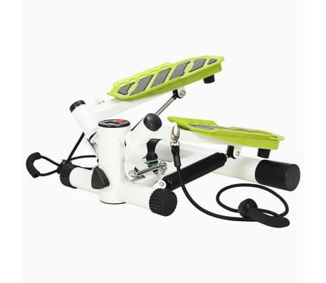 vidaXL Stepmaskin med motstandsbånd hvit og grønn[1/5]