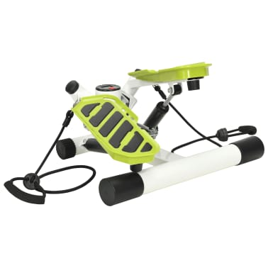 vidaXL Swing Stepper with Resistance Cords White and Green[2/5]