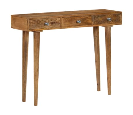 vidaXL Table console Bois de manguier massif 102 x 30 x 79 cm