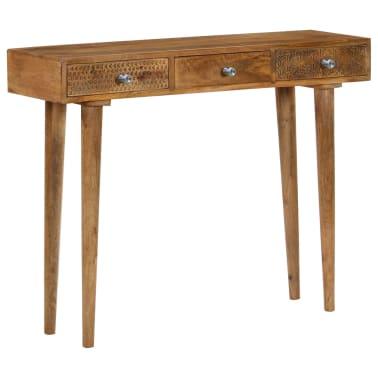 vidaXL Table console Bois de manguier massif 102 x 30 x 79 cm[1/13]