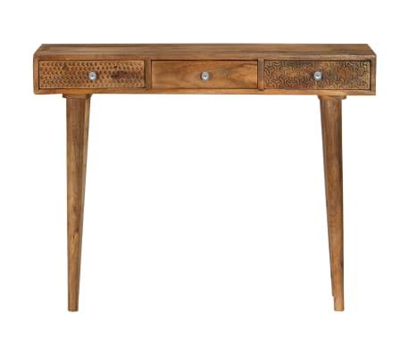vidaXL Table console Bois de manguier massif 102 x 30 x 79 cm[2/13]