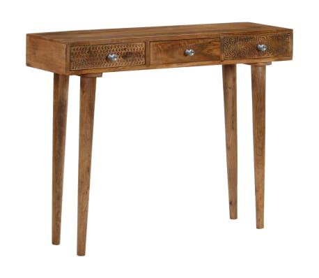 vidaXL Table console Bois de manguier massif 102 x 30 x 79 cm[12/13]