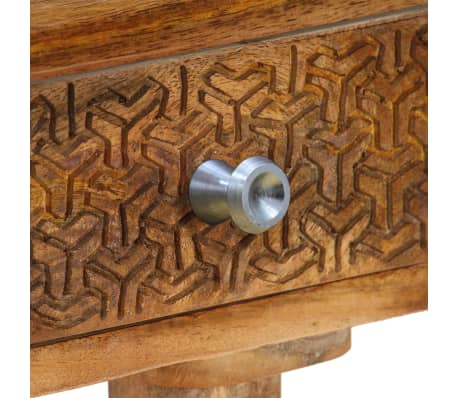 vidaXL Table console Bois de manguier massif 102 x 30 x 79 cm[6/13]