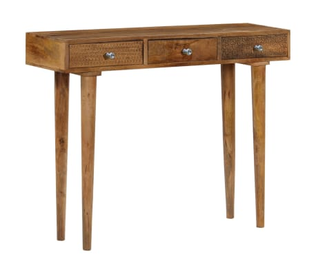 vidaXL Table console Bois de manguier massif 102 x 30 x 79 cm[10/13]