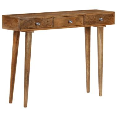 vidaXL Table console Bois de manguier massif 102 x 30 x 79 cm[11/13]
